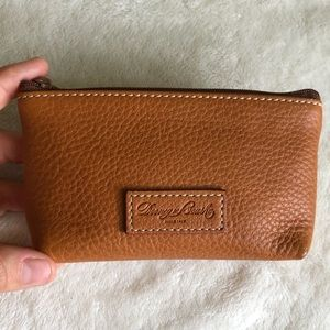 Genuine leather Dooney & Bourke keychain wallet